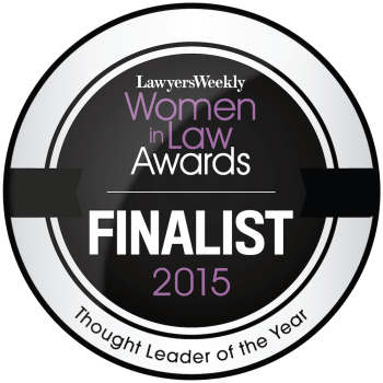Lawyers Weekly Women In Law Awards Finalist 2015