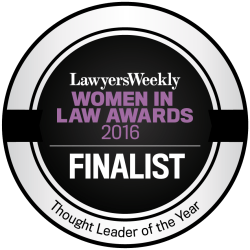Women in Law Awards Finalist 2016 Thought Leader of the Year